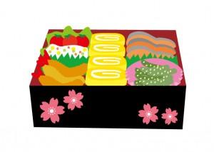 運動会のお弁当(重箱タイプ)のイラスト