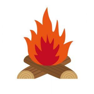 たき火(焚き火)のイラスト