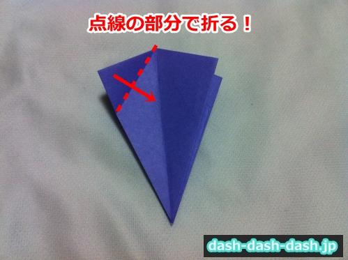 朝顔 折り紙 折り方 簡単25