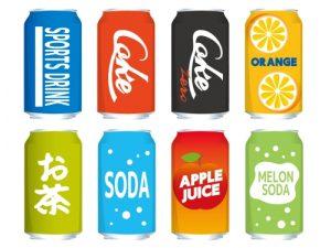 缶ジュース(空き缶)のイラスト