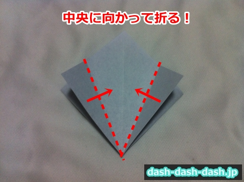 朝顔 折り紙 折り方 簡単08