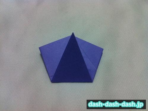 朝顔 折り紙 折り方 簡単29