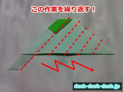 あじさい 折り紙 簡単 作り方13