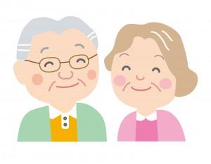 老夫婦のイラスト(敬老の日)