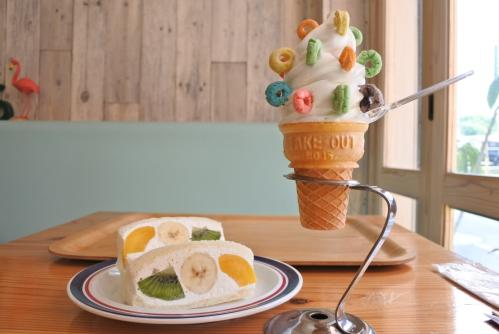 Yes!! picnic parlor フルーツサンドとソフトクリーム