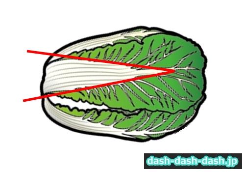 鍋 白菜 切り方01