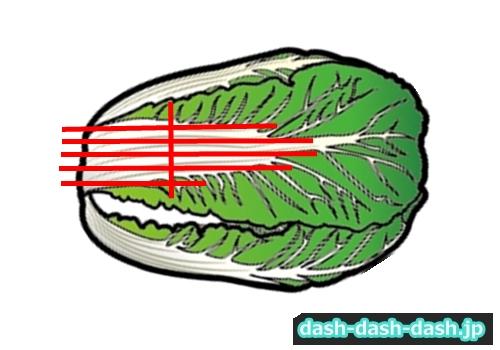 鍋 白菜 切り方02