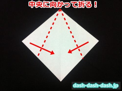 ハロウィン おばけ 折り紙 簡単02
