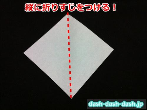 こうもり 折り紙 簡単01