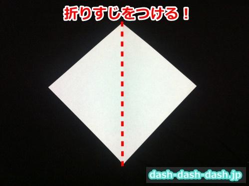 ハロウィン おばけ 折り紙 簡単01