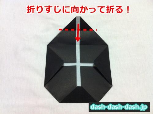 ハロウィン 折り紙 リース 作り方25