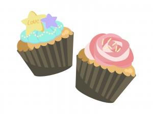 マフィン カップケーキ 違い01