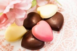 バレンタインハートのチョコレート