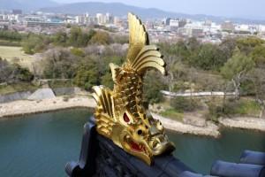 名古屋城の金のしゃちほこ