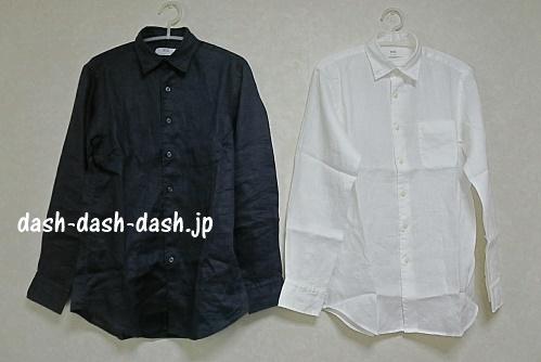 ユニクロの長袖シャツ(プレミアムリネン)01