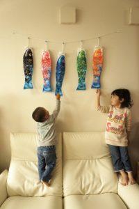 鯉のぼり(こいのぼり)と子供