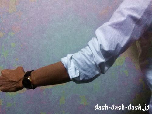 長袖シャツ 腕まくり04