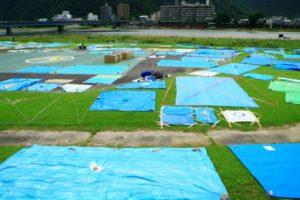 長良川花火大会の場所取り(長良川公園)