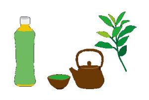 番茶(お茶の葉)のイラスト