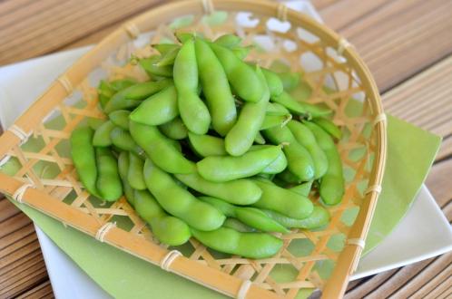 ゆでた枝豆