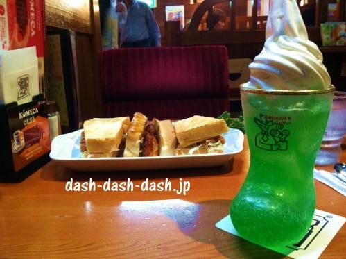 コメダ珈琲店のドリンクおすすめメニュー第2位のクリームソーダ