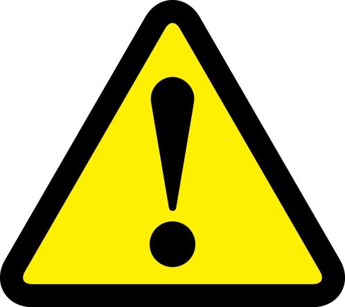 注意喚起の案内標識