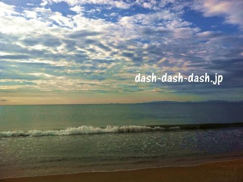 白子港緑地~鼓ヶ浦海水浴場間の砂浜