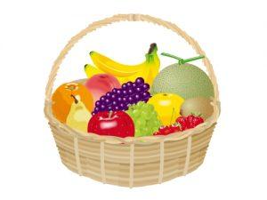 フルーツバスケット(果物)のイラスト