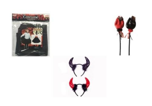 ダイソーで揃う悪魔のハロウィン仮装コーデ02