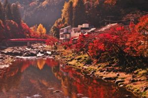 香嵐渓の紅葉(愛知県豊田市足助町)