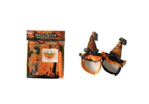 ダイソーで揃うかぼちゃおばけのハロウィン仮装コーデ