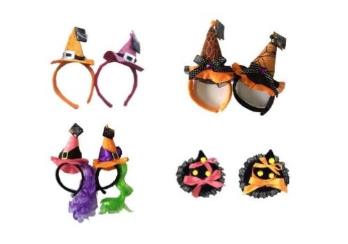 ダイソーで揃う魔女帽子のカチューシャとヘアピン