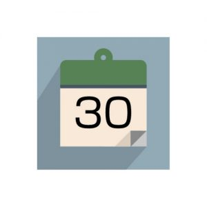 日めくりカレンダーのイラスト(30日)
