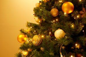 クリスマスツリー(飾り付けをする時期)