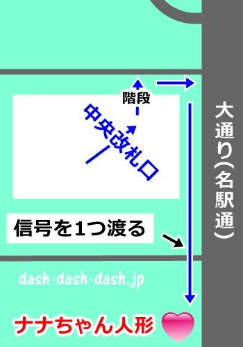 名鉄名古屋駅からナナちゃん人形への行き方