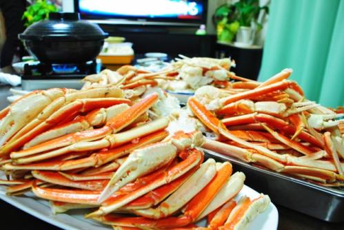 カニ鍋の準備(蟹・かに)