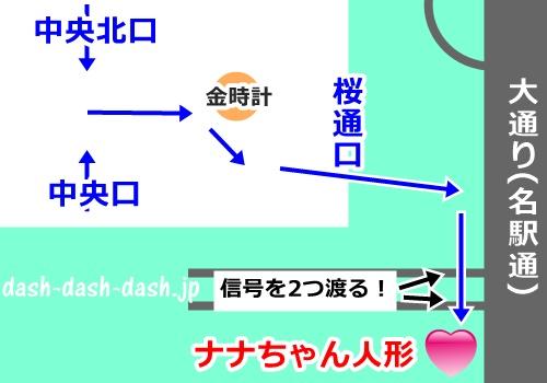 JR・新幹線名古屋駅からナナちゃん人形への行き方