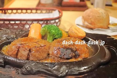炭焼きレストランさわやか10(げんこつハンバーグとパン)