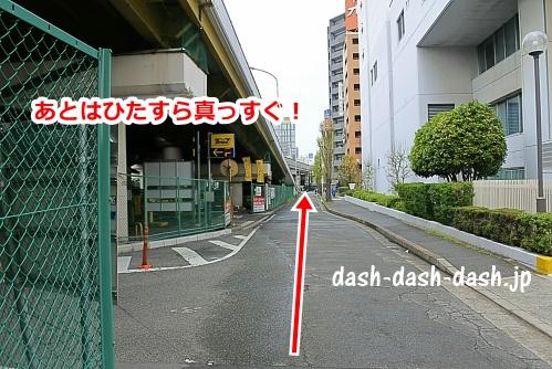 あとは新大阪駅まで一直線(新淀川大橋の新大阪駅側)