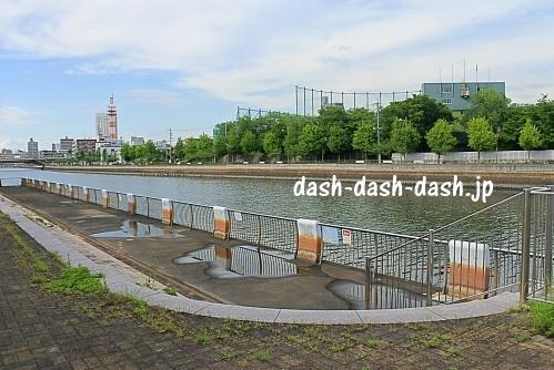 堀川沿いの遊歩道(白鳥公園)
