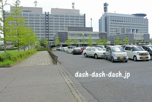 県庁北無料臨時駐車場(長良川花火大会)