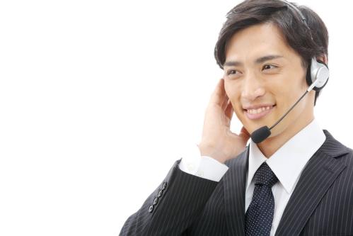 コールセンターの男性