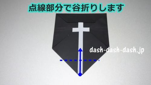 お墓の折り紙の折り方(十字架付き)29