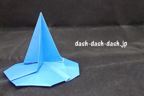 立体的なハロウィン帽子(魔女の帽子)10