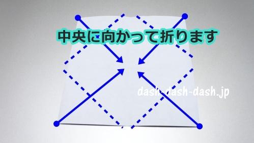お墓の折り紙の折り方(十字架付き)22
