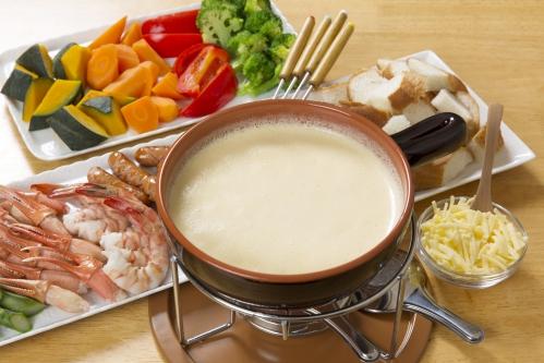 チーズフォンデュ(おすすめ具材冒頭)