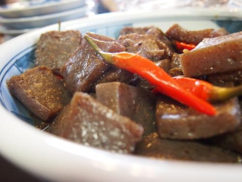 節分の献立(メニュー)の副菜「こんにゃくのピリ辛炒め煮」