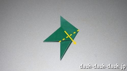 笹の葉の折り紙の作り方06