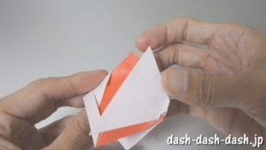 [七夕]金魚の折り紙の折り方(簡単かぶと)22
