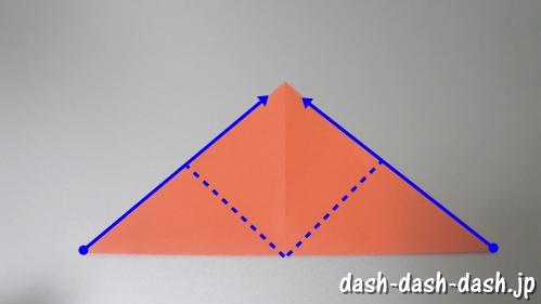 [七夕]金魚の折り紙の折り方(簡単かぶと)04